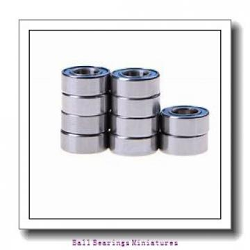 3mm x 8mm x 3mm  ZEN mf83-2z-zen Ball Bearings Miniatures