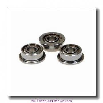 2mm x 4mm x 1.2mm  ZEN 672-zen Ball Bearings Miniatures