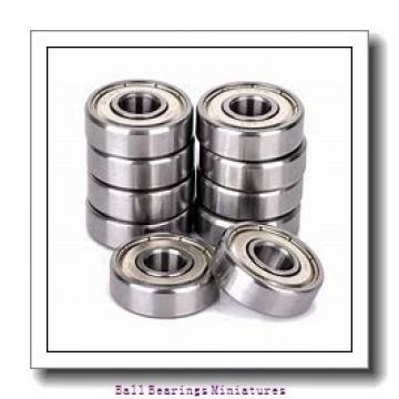 3mm x 8mm x 3mm  ZEN f693-zen Ball Bearings Miniatures