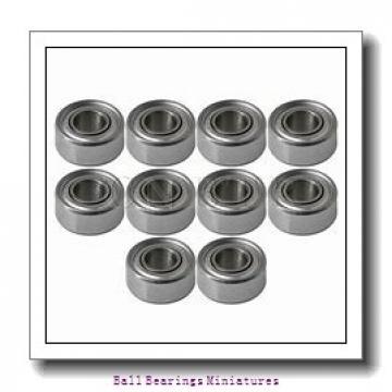 1.5mm x 6mm x 3mm  ZEN f601x-2z-zen Ball Bearings Miniatures