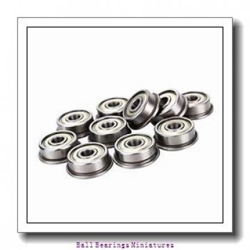 3mm x 8mm x 4mm  ZEN s693-2z-zen Ball Bearings Miniatures