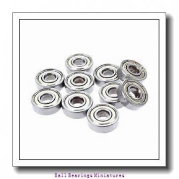 2.5mm x 7mm x 3mm  ZEN sx2.5-2z-zen Ball Bearings Miniatures