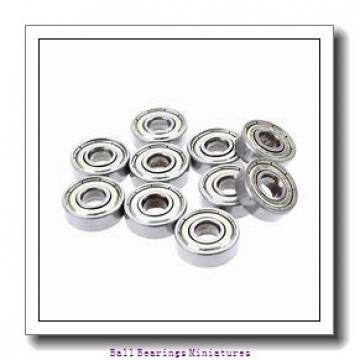 3mm x 8mm x 2.5mm  ZEN smf83-zen Ball Bearings Miniatures